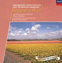 リッチ(ルッジェーロ)『メンデルスゾーン/vn協奏曲』