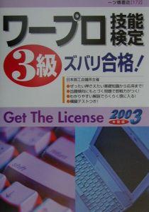 ワープロ技能検定3級ズバリ合格! 2003年度版