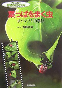 葉っぱをまく虫