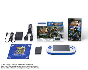 PSP「プレイステーション・ポータブル」新米ハンターズパック:ホワイト/ブルー(PSPJ30021)