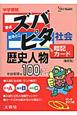 中学受験 ズバピタ<新装版> 社会 暗記カード 歴史人物 100+26