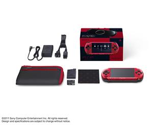 PSP「プレイステーション・ポータブル」(PSP-3000)バリューパック:レッド/ブラック(PSPJ30026)