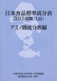 日本食品標準成分表 2015 アミノ酸成分表編<七訂> 文部科学省科学技術・学術審議会資源調査分科会報告