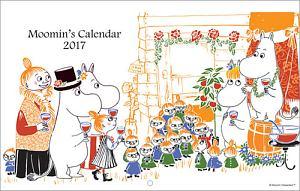 ムーミン壁掛けカレンダー(仲間と乾杯) 2017