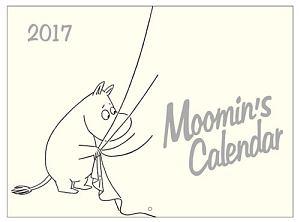 ムーミン壁掛けカレンダー(モノトーン) 2017