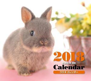 ミニカレンダー ウサギ 2018