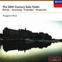リッチ(ルッジェーロ)『20世紀無伴奏ヴァイオリン作品集』