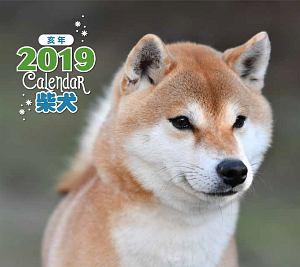 ミニカレンダー 柴犬 2019