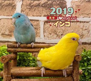 ミニカレンダー インコ 2019