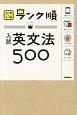 大学入試ランク順 入試 英文法500