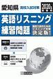愛知県 高校入試対策 英語リスニング練習問題 2020